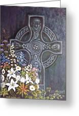 Celtic Wedding Bouquet Greeting Card by Sean Conlon
