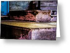 Cement Steps Number One Greeting Card by Bob Orsillo