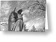 Cemetery Angel Greeting Card by Jennifer Lyon