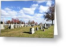 Cemetery At Gettysburg National Battlefield Greeting Card by Brendan Reals