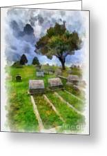 Cemetery Clouds Greeting Card by Amy Cicconi