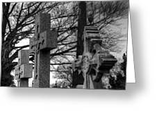 Cemetery Crosses Greeting Card by Jennifer Ancker