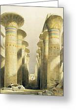 Central Avenue Of The Great Hall Of Columns Greeting Card by David Roberts