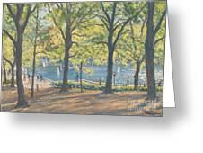 Central Park New York Greeting Card by Julian Barrow