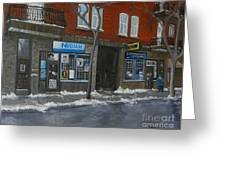 Centre Street Pointe St Charles Greeting Card by Reb Frost