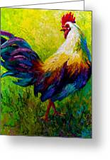 Ceo Of The Ranch - Rooster Greeting Card by Marion Rose