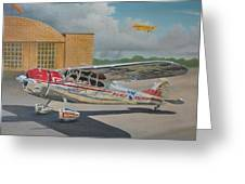Cessna 195 Greeting Card by Stuart Swartz