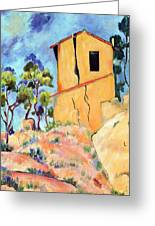 Cezanne's House With Cracked Walls Greeting Card by Jamie Frier