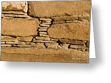 Chaco Bricks Greeting Card by Steven Ralser