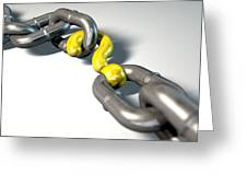 Chain Missing Link Question Greeting Card by Allan Swart