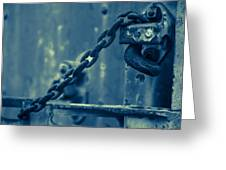 Chained And Moody Greeting Card by Toni Hopper