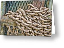 Chained Up Greeting Card by Heather Applegate