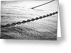 Chains Greeting Card by Dean Harte