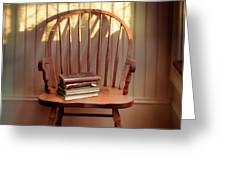 Chair and Lace Shadows Greeting Card by Jill Battaglia