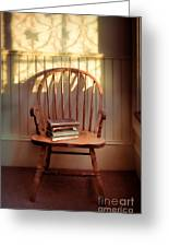 Chair And Lace Shadows Greeting Card by Jill Battaglia