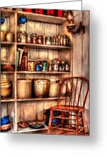Chair - Chair In The Corner Greeting Card by Mike Savad
