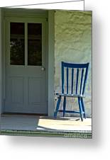 Chair On Farmhouse Porch Greeting Card by Olivier Le Queinec