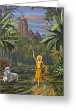 Chaitanya Mahaprabhu In Jaganath Puri Greeting Card by Vrindavan Das