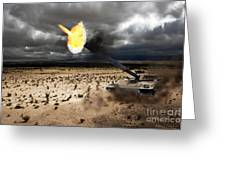 Challenger 1 Greeting Card by J Biggadike