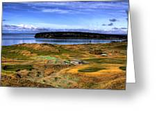 Chambers Bay Golf Course Greeting Card by David Patterson