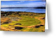 Chambers Bay Golf Course II Greeting Card by David Patterson