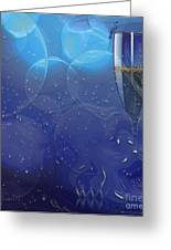 Champagne Blue  Greeting Card by Liane Wright
