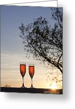 Champagne For Two Greeting Card by Kay Pickens