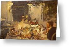 Champagne Greeting Card by Gaston La Touche