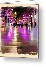 Champs Elysees In Pink Greeting Card by Angela A Stanton