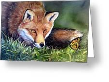 Chance Encounter Greeting Card by Patricia Pushaw