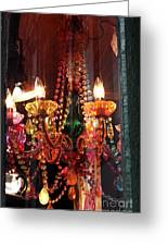 Chandelier Greeting Card by John Rizzuto