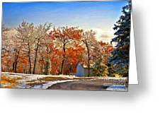 Change Of Seasons Greeting Card by Lois Bryan