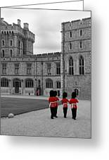 Changing Of The Guard At Windsor Castle Greeting Card by Lisa Knechtel