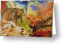Changing Of The Seasons - Square Format Greeting Card by Ellen Levinson