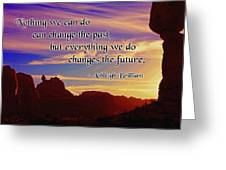 Changing the Future Greeting Card by Mike Flynn