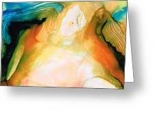 Channels - Abstract Art By Sharon Cummings Greeting Card by Sharon Cummings