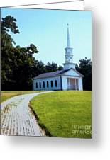 Chapel At The Wayside Inn Greeting Card by Desiree Paquette