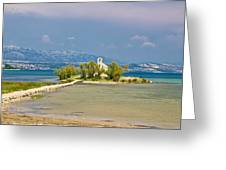 Chapel On Small Island In Posedarje Greeting Card by Brch Photography