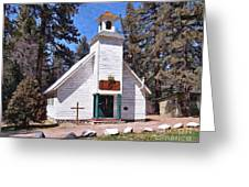 Chapel On The Mountain Greeting Card by Glenn McCarthy Art and Photography