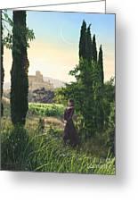 Chardonnay Wine Country Fantasy Greeting Card by Stu Shepherd