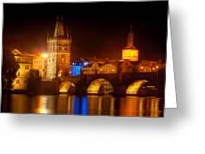 Charles Bridge II- Prague Greeting Card by John Galbo