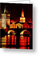 Charles Bridge Greeting Card by John Galbo