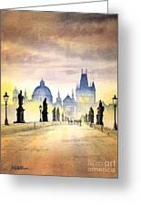 Charles Bridge Prague Greeting Card by Bill Holkham