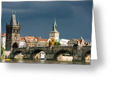 Charles Bridge Prague Greeting Card by Matthias Hauser