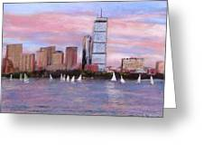 Charles River Boston Greeting Card by Jack Skinner