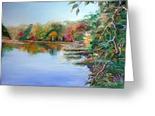 Charles River From The Newton Street Bridge Waltham Greeting Card by Jack Bordenca