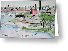 Charles River Greeting Card by Sue Melanson