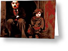 Charlie Chaplin 20130212-2-square Greeting Card by Wingsdomain Art and Photography