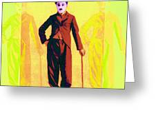 Charlie Chaplin The Tramp Three 20130216p30 Greeting Card by Wingsdomain Art and Photography