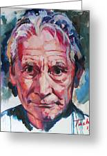 Charlie Watts Greeting Card by Tachi Pintor